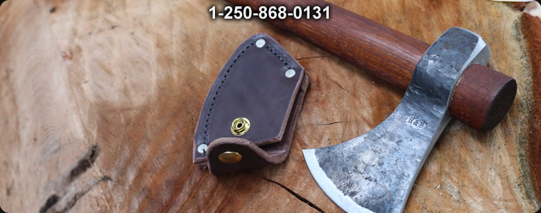 H and B Forge Handforged GOS-Hawk With Custom Cover - Bushcraft Canada