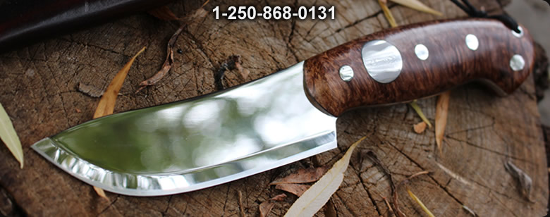 Cosmo 4in Maple Burl S35VN Bushcraft No2 - Bushcraft Canada