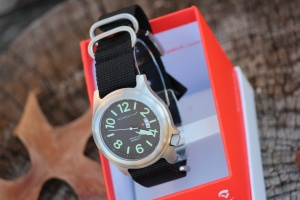 Bushcraft watch with Black NATO strap