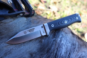 Cudeman MT1 Black Micarta Full Sheath