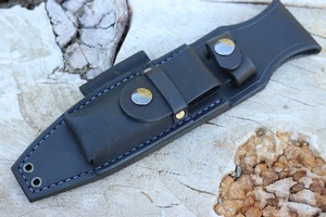 Canadian Bushcraft Leather S1 Sheath Black