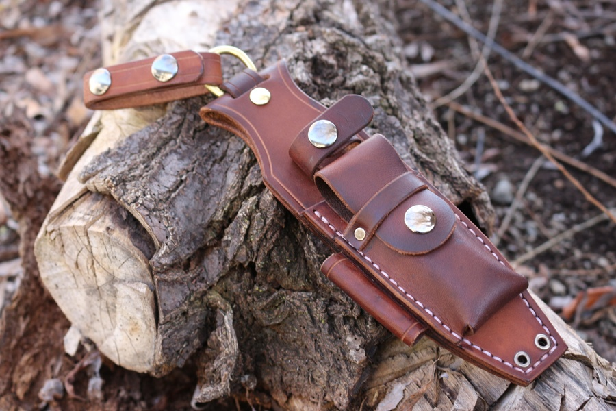 Canadian Bushcraft Leather Dangler For Fallkniven F1 And