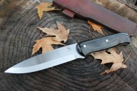 Large Woodcrafter Black Paper Micarta