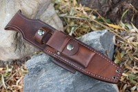 Canadian Bushcraft Leather Custom A1 sheath Photo