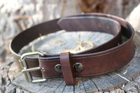 Canadian Bushcraft leather belt Photo