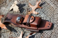 Canadian Bushcraft leather F1 'box' sheath