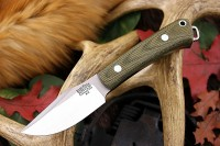 Barkriver Trailmate Green canvas micarta