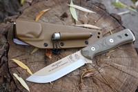 TOPS BOB Bushcraft Knife Desert Tan Photo
