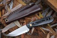 Enzo Necker Black Micarta Scandi