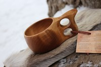 Finnish Lappland Kuksa Double hole Handle Photo