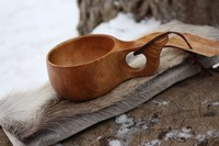 Finnish Lappland Kuksa Single hole Handle