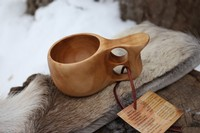 Finnish Lappland Kuksa SMALL Double hole Handle