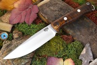 Barkriver knives Bravo-1 Vortex Rampless Dark Curly Maple