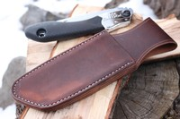Canadian Bushcraft Leather Custom Silky 170 sheath Photo