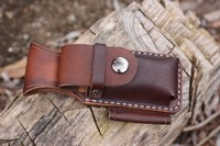 Canadian Bushcraft Leather DC4 and Firesteel Pouch Photo