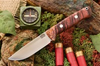 Barkriver Bravo-1 LT Cru-wear Burgandy Maple Burl Rampless
