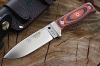 Cudeman MT5 Red and Black Micarta Photo