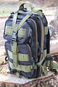 Transport Backpack Black and Green
