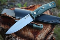 Casstrom Swedish Forest Knife No10 Green Micarta with Firesteel Photo
