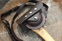 Canadian Bushcraft leather Hultafors Axe Cover and Pouch