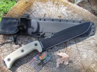 Junglas Survival knife, Kydex sheath and Cordura backing