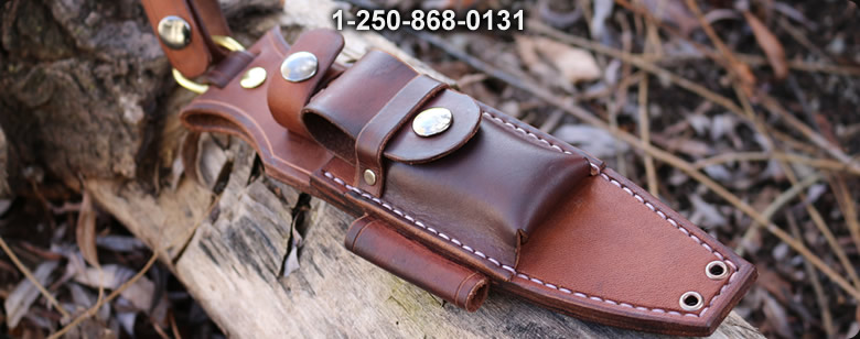Canadian Bushcraft Leather Custom Silky 170 sheath - Bushcraft Canada