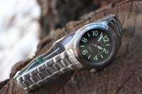Bushcraft Watch with Stainless Steel strap Photo