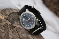 Flatline Field Watch Sapphire glass Black Photo