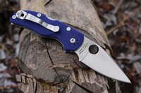 Spyderco Native 5 Dark Blue G10 CPM S110V Photo