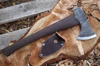 H and B Forge Bushcraft Axe and Cover