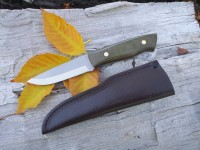 Enzo Trapper Green canvas Micarta 01 SCz Photo