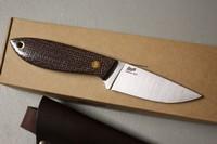 ENZO Bobtail Mustard Bison Micarta Photo