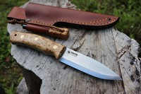 Casstrom Forest Knife No10 14C28 Curly Birch with Firesteel