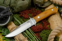 Barkriver Chute Knife CPM 154 Natural Canvas